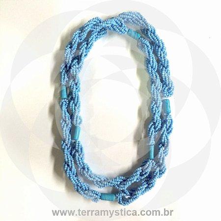 GUIA IMPERIAL - BRAJA AZUL CLARO - Trançado com Firma Azul