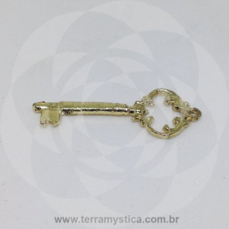 CHAVE PEQUENA - Pingente Dourado