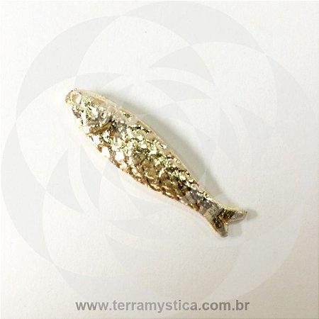 PEIXE - Pingente Dourado