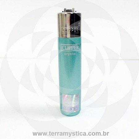 Isqueiro Clipper Cristal - Verde