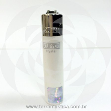 Isqueiro Clipper Cristal - Branco