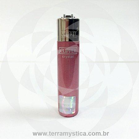 Isqueiro Clipper Cristal - Rosa