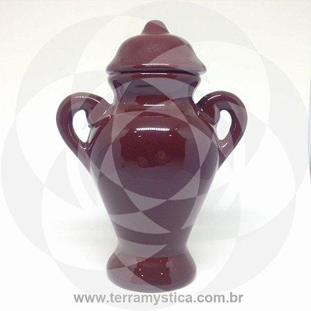 QUARTINHA DE LOUÇA MARROM - 18 cm com alça