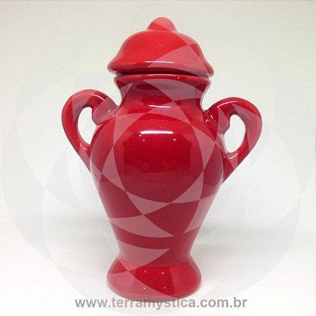 QUARTINHA DE LOUÇA VERMELHA - 18 cm com alça