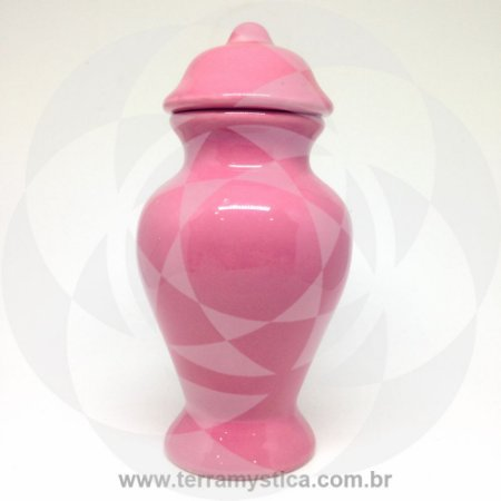 QUARTINHA DE LOUÇA ROSA - 18 cm sem alça