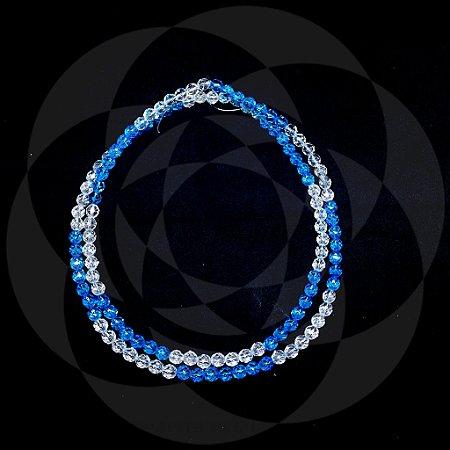 GUIA DE CRISTAL - Azul Claro e Transparente