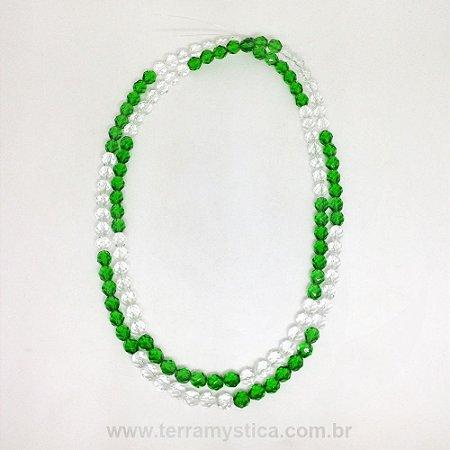 GUIA DE CRISTAL - Verde e Transparente