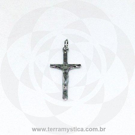 PINGENTE CRUCIFIXO PRATEADO - Nº12