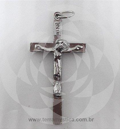 PINGENTE CRUCIFIXO PRATEADO - Nº13
