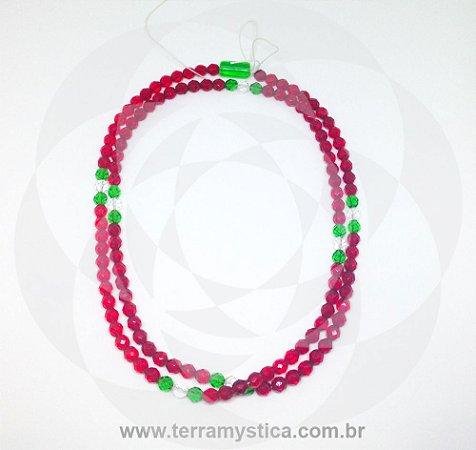 GUIA DE CRISTAL - Vermelho I Verde I Branco : Firma Verde