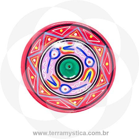 INCENSARIO DE CERAMICA - ROSA 11 CM
