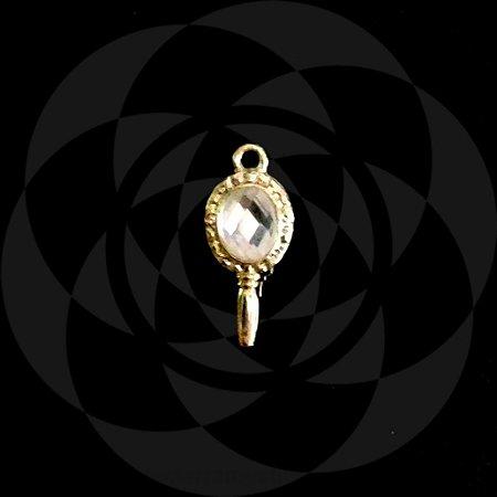 PINGENTE ESPELHO - Dourado : Oxum