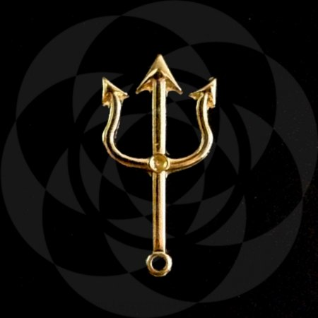 PINGENTE TRIDENTE - Dourado : Pomba Gira