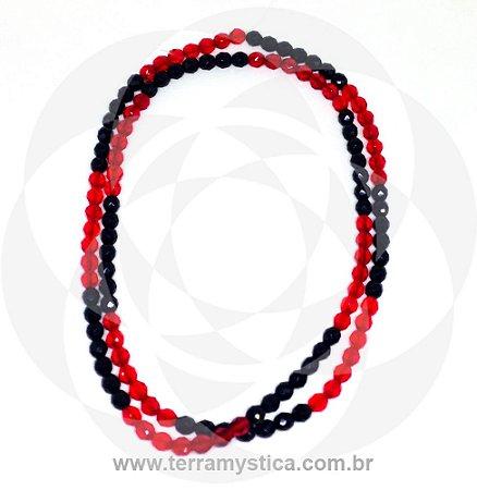 GUIA DE CRISTAL - Vermelho e Preto