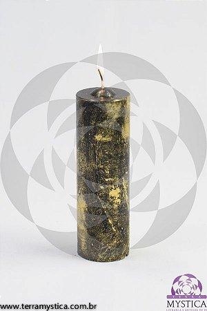 VELA 7 DIAS - Preto com Ouro