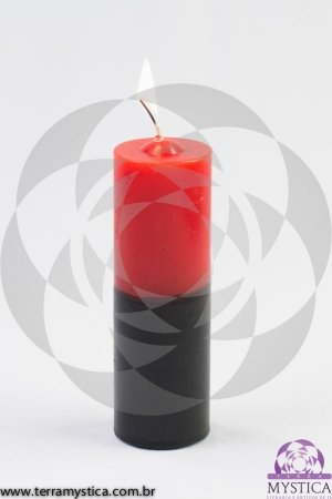 VELA 7 DIAS - Vermelha e Preto