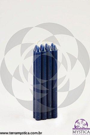 VELA PALITO - Azul Petróleo I Maço com 8 un.