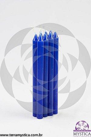 VELA PALITO - Azul Royal I Maço com 8 un.