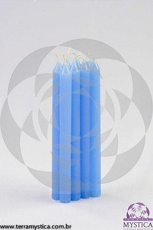 VELA PALITO - Azul Clara I Maço com 8 un.