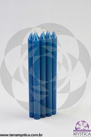 VELA PALITO - Azul Turquesa I Maço com 8 un.