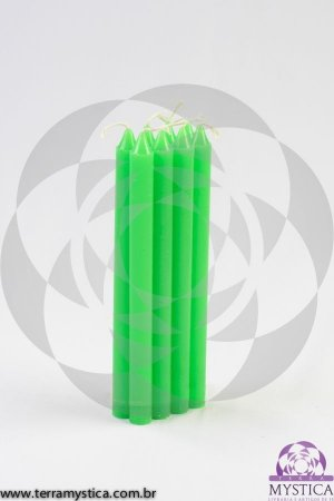 VELA PALITO - Verde Florescente I Maço com 8 un.