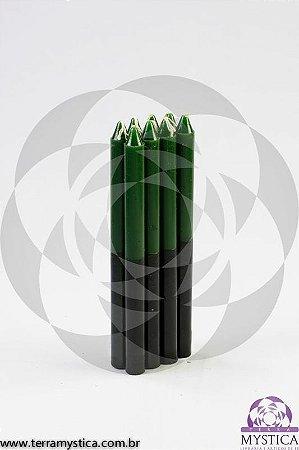 VELA PALITO - Verde e Preto I Maço com 8 un.