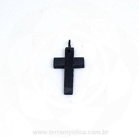 CRUZ DE MADEIRA - 3x2 cm - Preta
