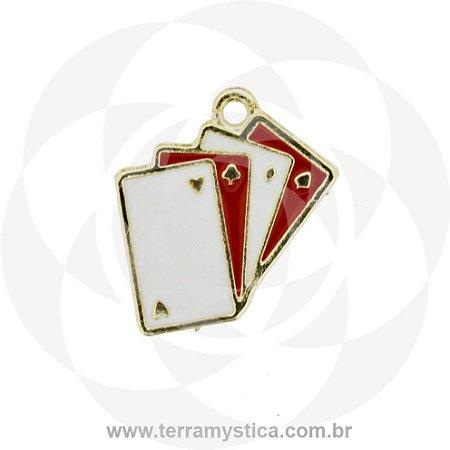 PINGENTE BARALHO - Branco e Vermelho
