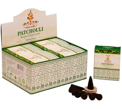 INCENSO AYURVEDIC PATCHOULI CONE