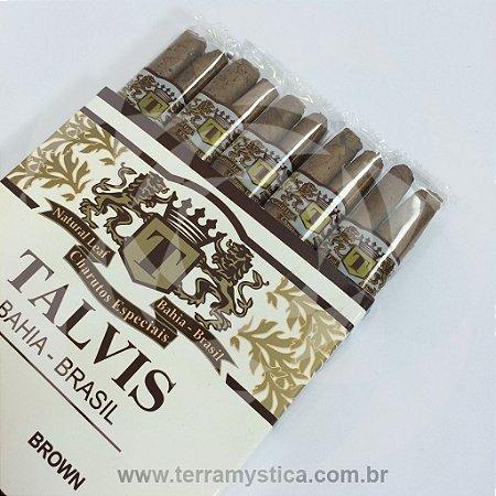 CIGARRILHA TALVIS BRASIL BROWN - Chocolate :: Com 10 Unidades