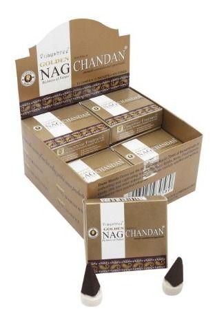 INCENSO INDIANO MASSALA CHANDAN CONE - Golden Nag Vijayshree