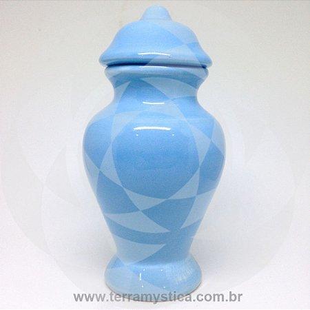QUARTINHA DE LOUÇA AZUL CLARO 15 cm sem alça
