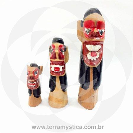 CARRANCA DE MADEIRA - 35 cm