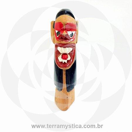 CARRANCA DE MADEIRA - 10 cm