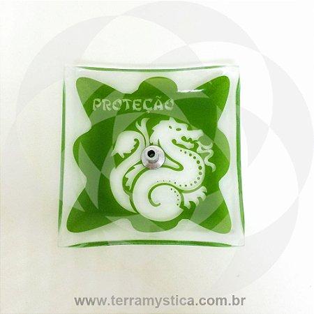 INCENSÁRIO DE VIDRO ORIENTAL - Verde - Proteção