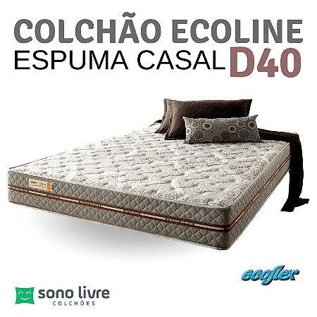 COLCHÃO CASAL ESPUMA ECOLINE D40 138X188 ECOFLEX