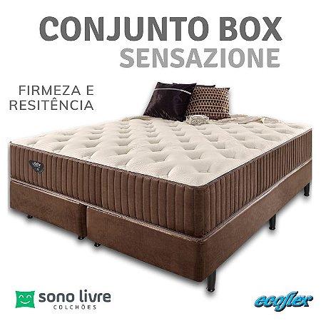 Conjunto Box Queen Sensazione 158 x 198 x 35