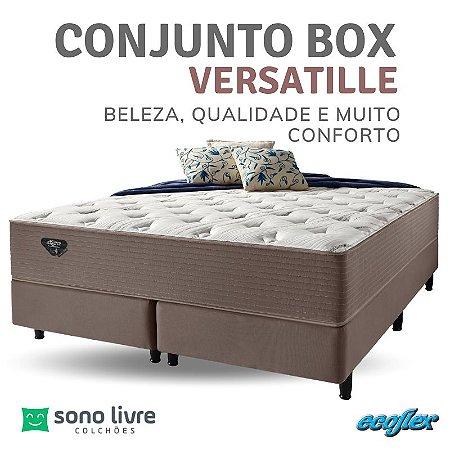 Conjunto Box Queen Versatille Ecoflex 158x198x35