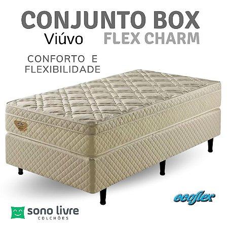 Conjunto Box Viúvo Flex Charm Ecoflex 120 x 198 x 26