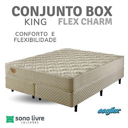 Conjunto Box King Flex Charm Ecolflex 193 x 203 x 26