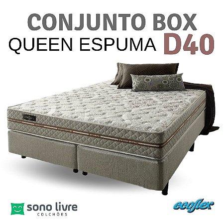 Conjunto Box Queen Ecoflex Espuma Ecoline D40 158 x 198 x 25
