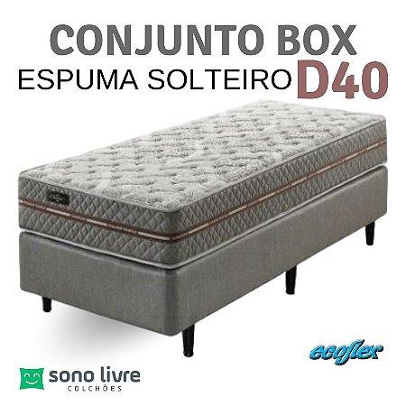 Conjunto Box Solteiro Ecoflex Espuma Ecoline D40 88 x 198 x 25