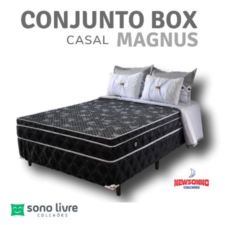 Conjunto Box Casal Magnus Newsonno 138 x 188