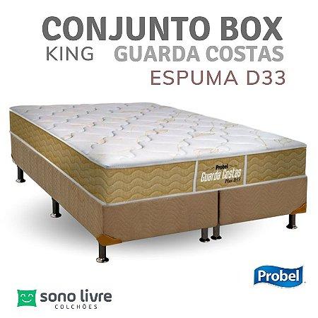 CONJUNTO BOX KING ESPUMA D33 GUARDA COSTAS PROBEL 193 X 203 X 30