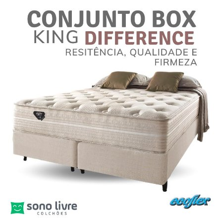 Conjunto Box King Molas Ensacadas Difference Ecoflex 193 x 203 x 35
