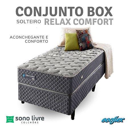 Conjunto Box Solteiro Relax Comfort 088 x 188