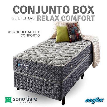 Conjunto Box Solteirão Relax Comfort Ecoflex 120 x 198