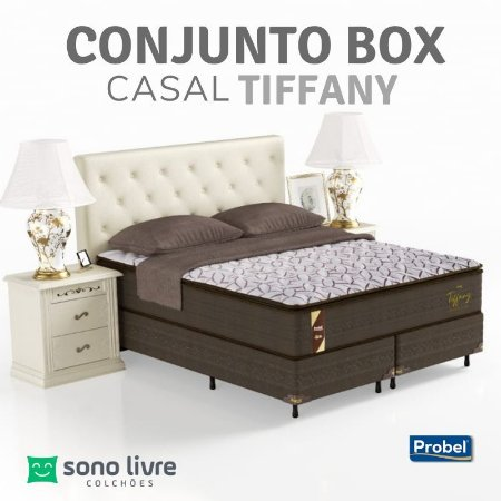 Conjunto Box Casal Molas Prolastic Tiffany Probel 138x188x33