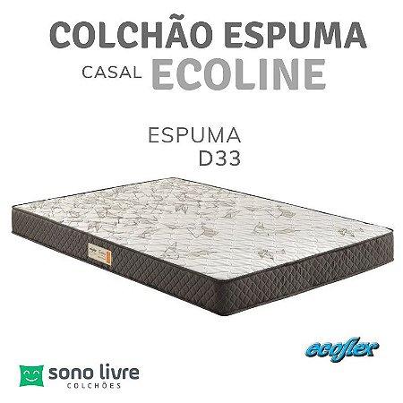Colchão Casal Espuma D33 Ecoline 138x188x25