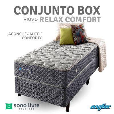 Conjunto Box Viúvo Relax Comfort 96 x 203 x 25